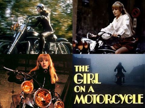 Girl On A Motorcycle Movie Stills T Shirt. Gents, Ladies & Kids Sizes. Marianne